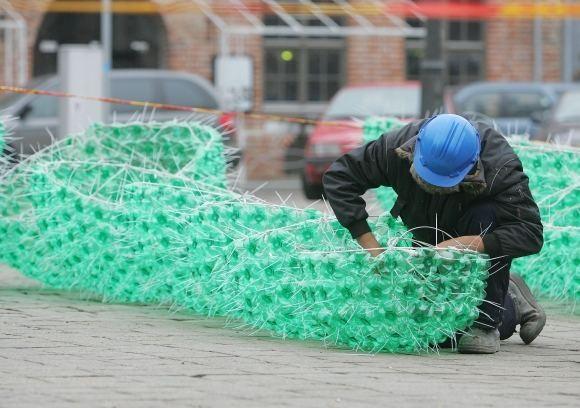 Елка из пластиковых бутылок от Jolanta Smidtiene. Изображение № 2.