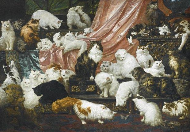 Картину 1891 года с 42 кошками продали за $826 000. Изображение № 1.