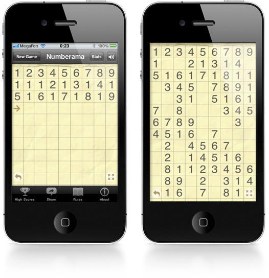 Numberama. Тайм-киллер для iPhone, вызывающий зависимость. Изображение № 1.