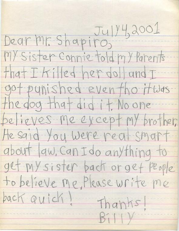 Письма маленького Билли известным и не очень людям. Изображение № 8.