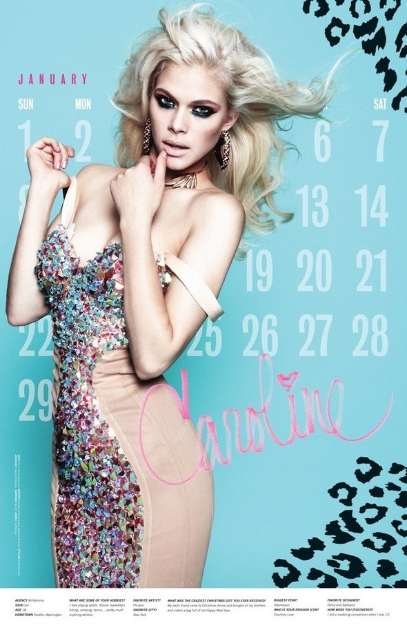 Съёмка: Календарь журнала LoveCat на 2012 год. Изображение № 2.