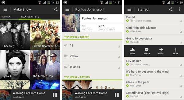 Старый дизайн приложения Spotify для Android. Изображение № 3.