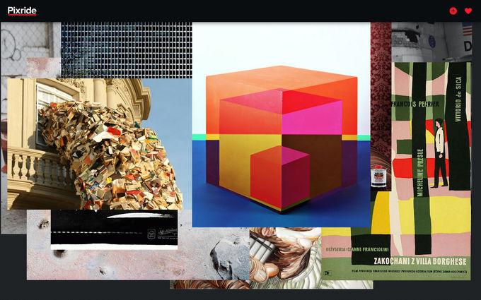 Запустился агрегатор лучших картинок из дизайн-блогов Pixride. Изображение № 1.