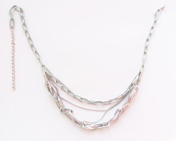 Ожерелья из цепей гаек и сантехнического шнура. Часть1. Изображение № 21.