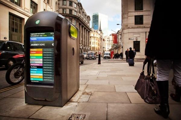 Информационные мусорные баки в Лондоне. Изображение № 1.