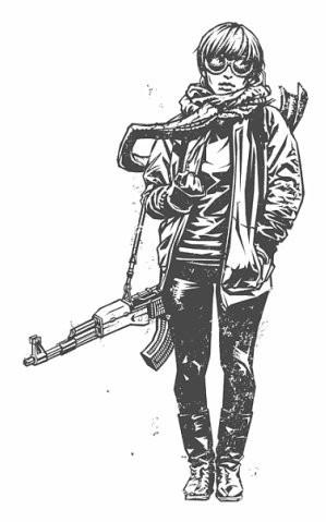 Девушки с оружием от Frank Barbara. Изображение № 5.