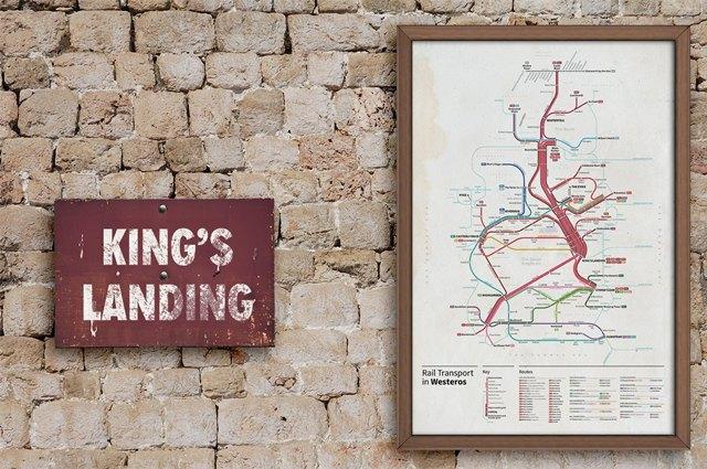Дизайнер создал схему метро для мира «Игры престолов». Изображение № 1.
