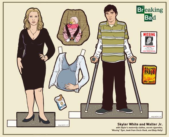 Бумажные куклы «Во все тяжкие», «Драйва» и другие. Изображение № 5.