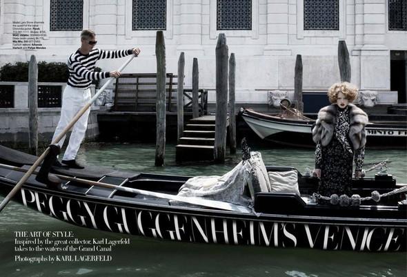 Lara Stone: Harper's Bazaar, September 2009. Изображение № 1.