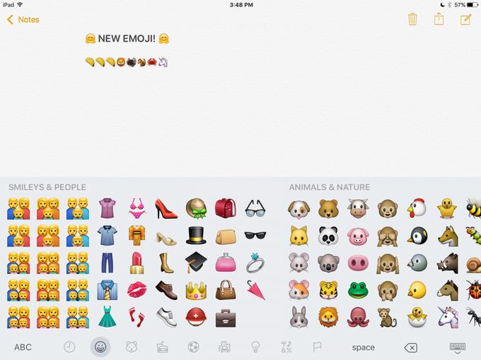 В iOS 9.1 появятся новые эмодзи . Изображение № 3.