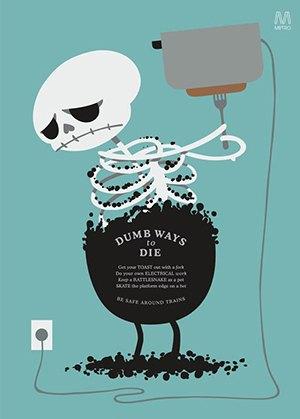Постеры Dumb Ways to Die. Изображение №4.