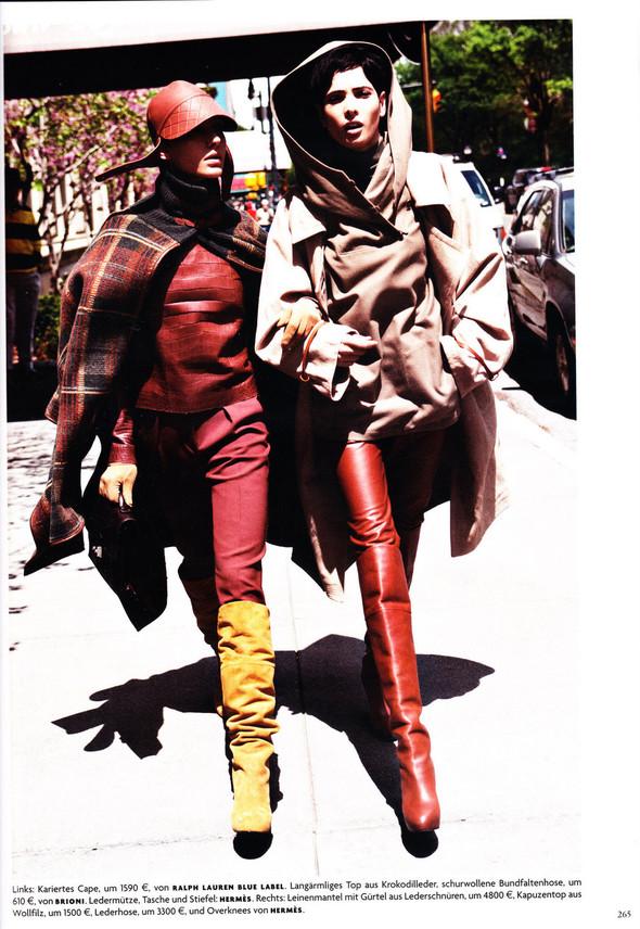 Съёмка: Хана Бен Абдесслем и Валерия Келава для Vogue. Изображение № 4.