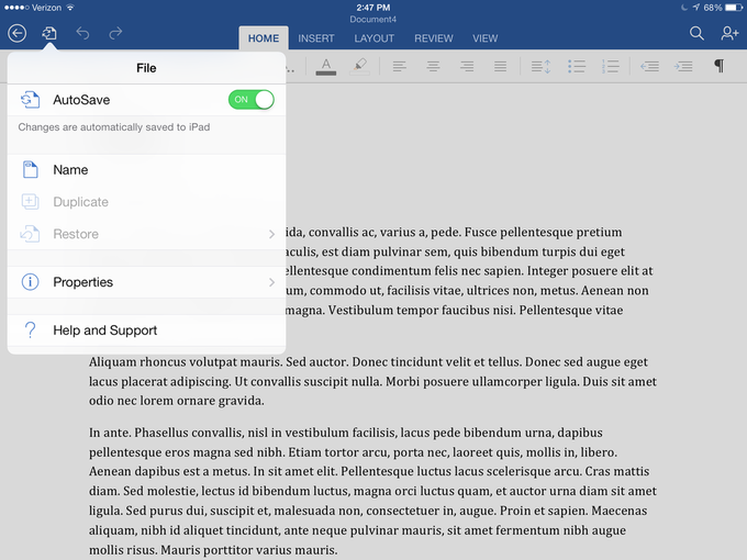 Microsoft выпустила Office для iPad . Изображение № 3.