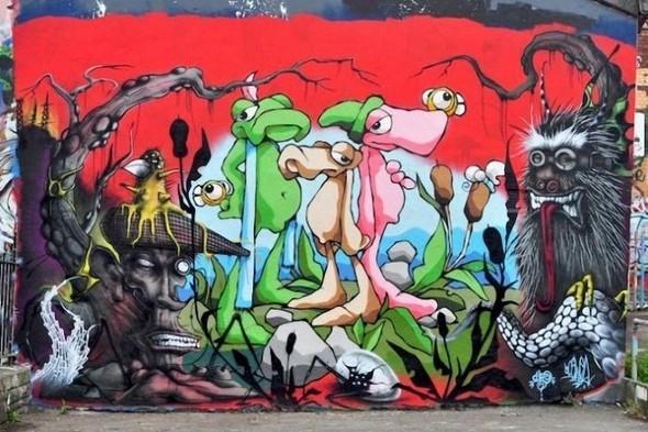 Изображение 3. Бристоль. Художественное граффити.. Изображение № 5.