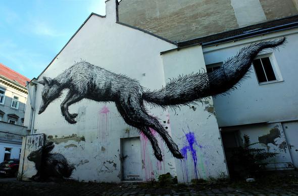 Животный стрит-арт от бельгийского граффитчика ROA. Изображение № 43.