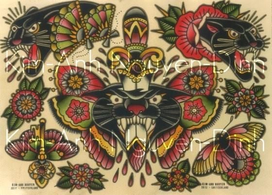 Kim-Anh Nguyen-Dinh : От рисунка к татуировке. Изображение № 6.
