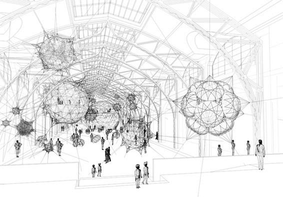 Найдено за неделю: Город будущего в пузырях, гигантская голова и вышитая книга. Изображение № 7.