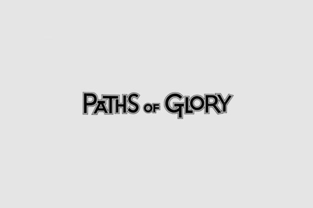 Шрифт с постера для фильма «Тропы славы». На нём использованы Futura, рукописный. Изображение № 21.