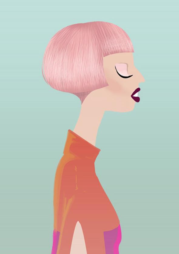 Иллюстрации образов Lady Gaga от Adrian Valencia. Изображение № 8.