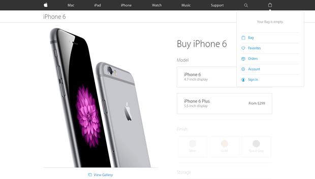 Apple убрала со своего сайта вкладку с магазином. Изображение № 1.