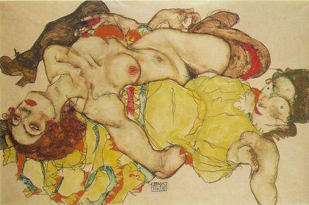 Эгон Шиле. Эротика вискусстве живописи ирисунка. Изображение № 28.