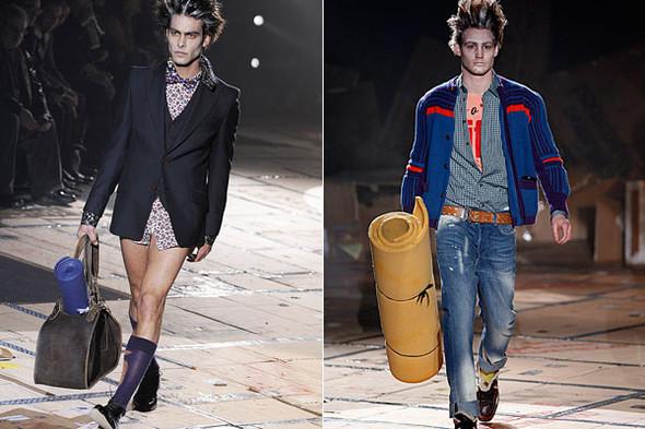 Что носить осенью: мужские показы в Милане. Изображение № 140.