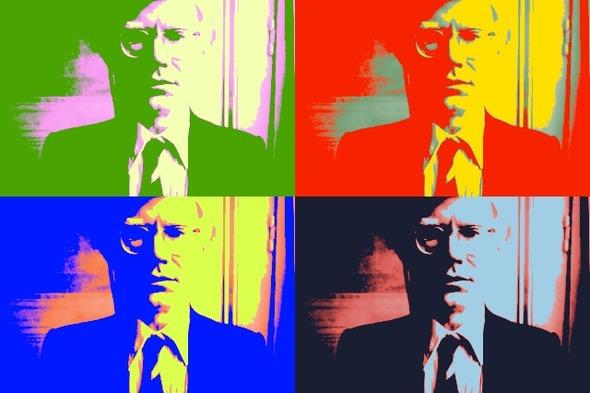 10 портретов Уорхола на веб-камеру . Изображение № 10.