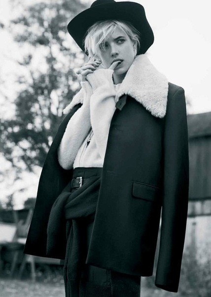 Agyness Deyn by Ben Weller for Twin #5. Изображение № 6.