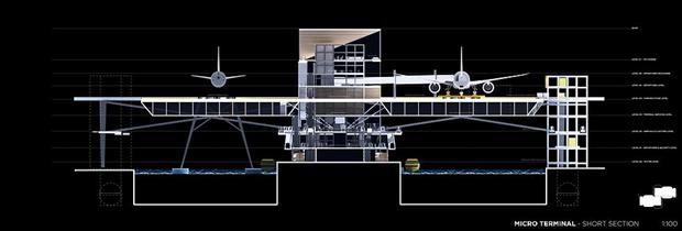 Студент предложил концепт надземного аэропорта в городе. Изображение № 9.