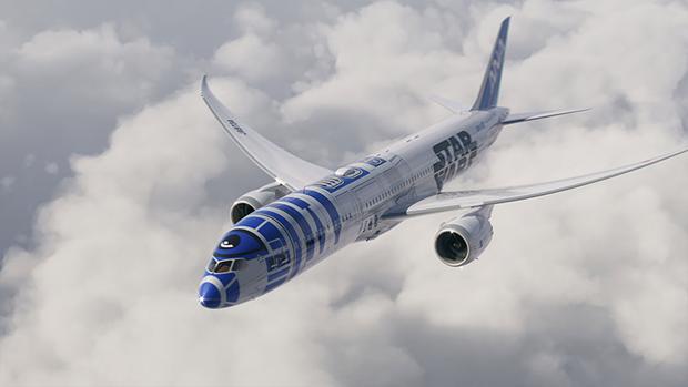 Авиакомпания показала перекраску самолёта под R2-D2. Изображение № 1.