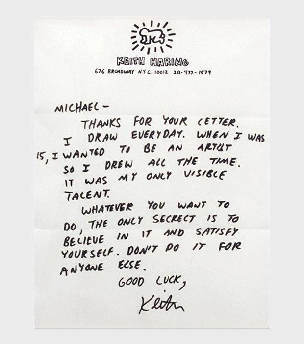 Вдохновляющее письмо Кита Харинга поклоннику. Изображение № 2.