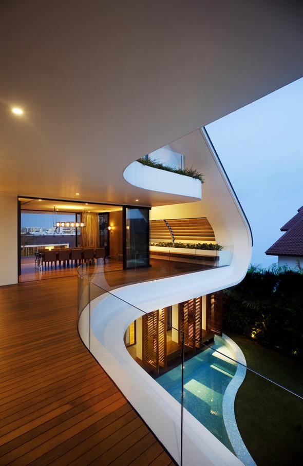 «Трехпалубная» вилла от Aamer Architects. Изображение № 15.