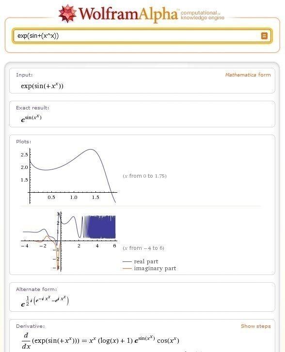 Wolframalpha – новая научная поисковая система. Изображение № 3.