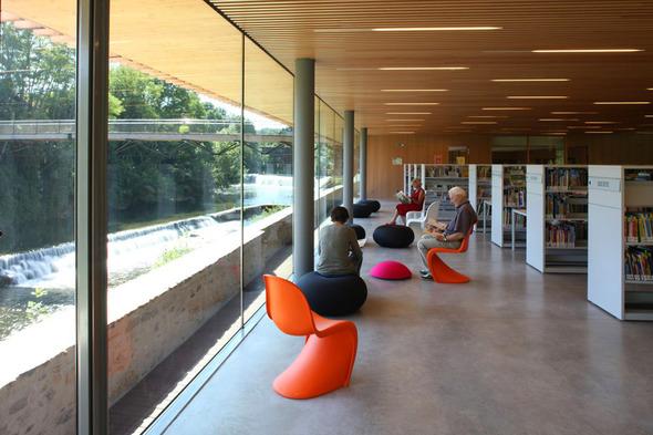 Мультимедийный центр Oloron-Sainte-Marie во Франции. Изображение № 4.
