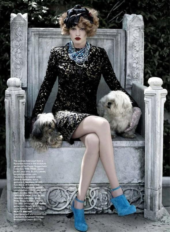 Lara Stone: Harper's Bazaar, September 2009. Изображение № 4.