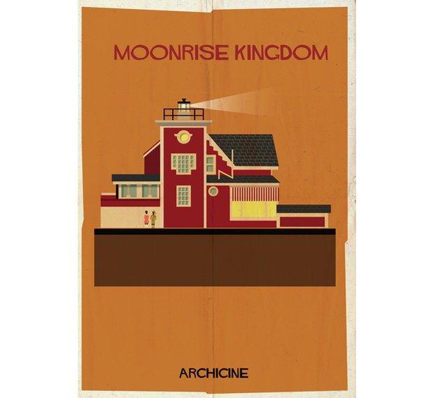 Художник нарисовал архитектурные постеры классических фильмов. Изображение № 3.