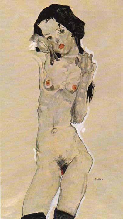 Эгон Шиле. Эротика вискусстве живописи ирисунка. Изображение № 23.