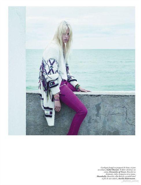 Съёмка: Саша Пивоварова и Наташа Поли для французского Vogue. Изображение № 5.
