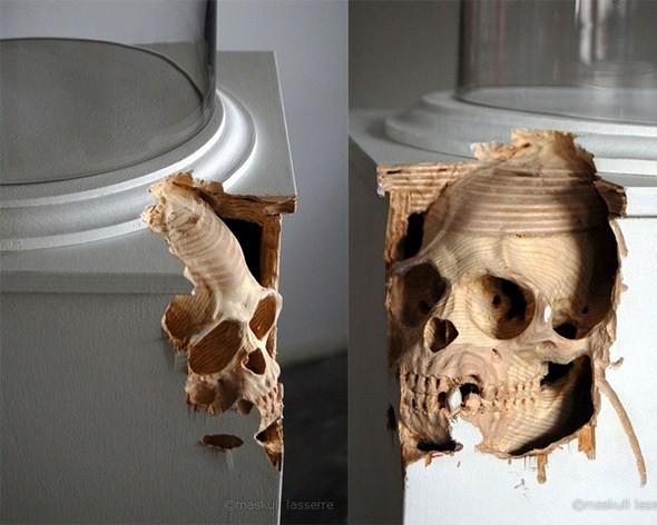 Анатомические скульптуры, вырезанные из самых обычных предметов. Изображение № 9.