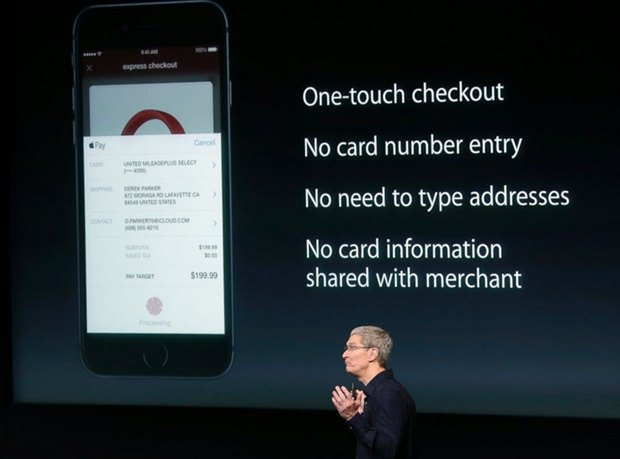 Тим Кук на презентации Apple Pay. Изображение № 1.