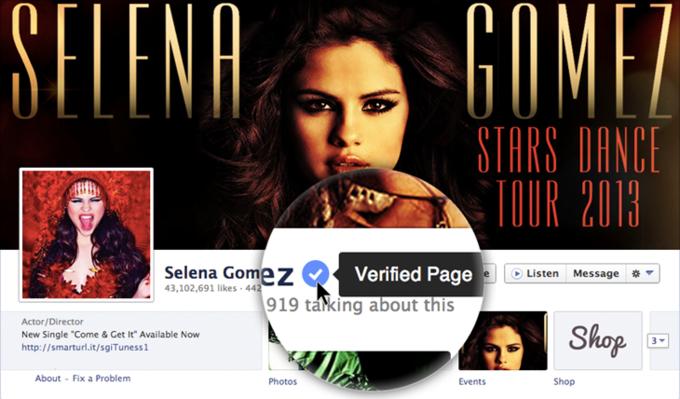 «Фейсбук» начал верифицировать страницы знаменитостей. Изображение № 1.