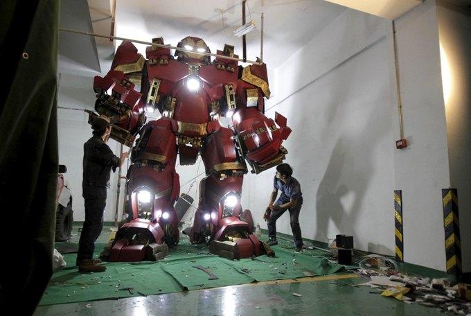 Житель Китая собрал доспехи Железного человека в гараже . Изображение № 1.