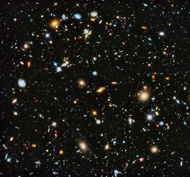 Множество галактик на камере Hubble. Изображение № 18.