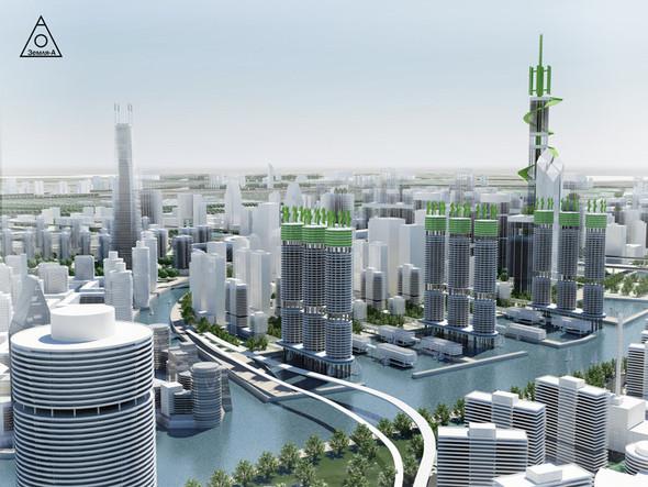 Сегодня есть множество примеров использования воды, как места где строят - жилье, бизнес центры, объекты культуры.. Изображение №6.