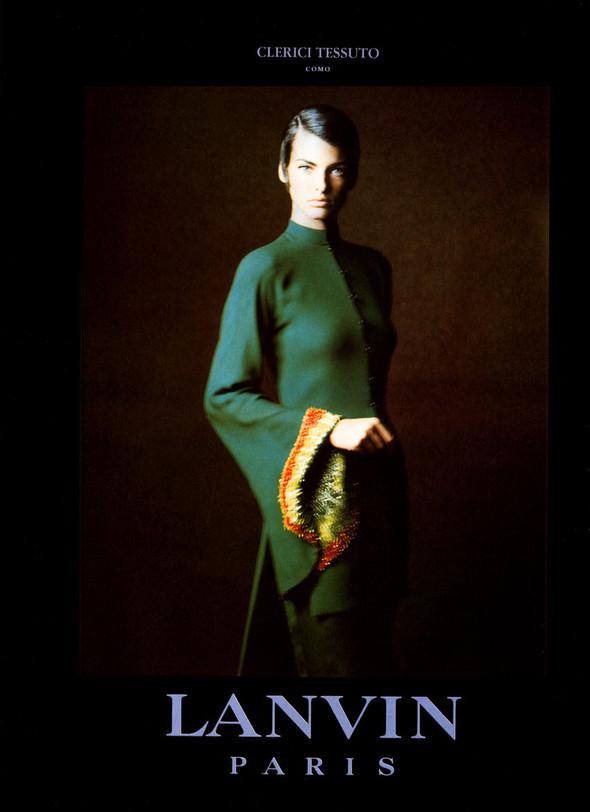 Архивная съёмка: Линда Евангелиста для Lanvin, 1990. Изображение № 6.