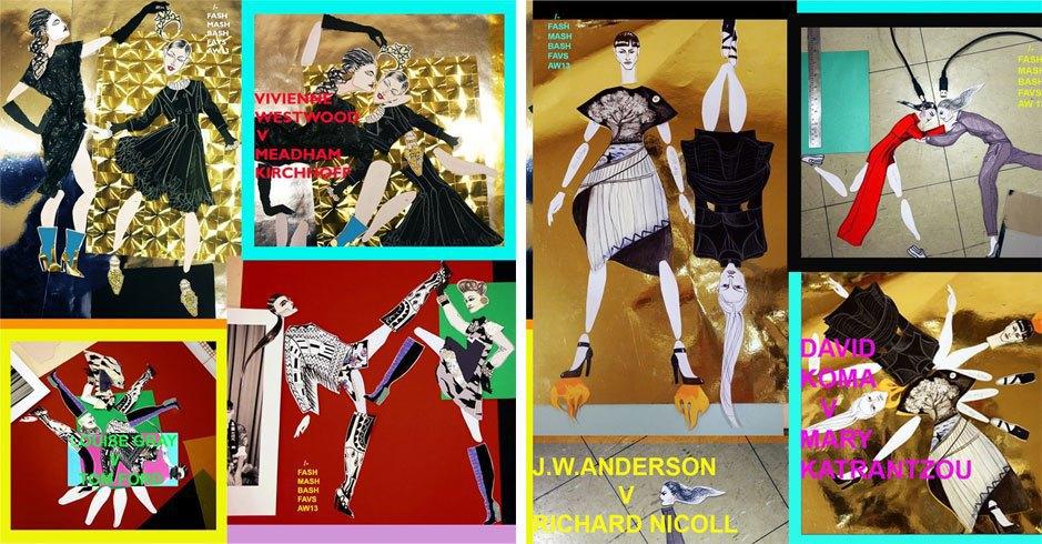 Иллюстрации и коллажи «Модные бои» London Fashion Week AW 2013. Изображение № 17.
