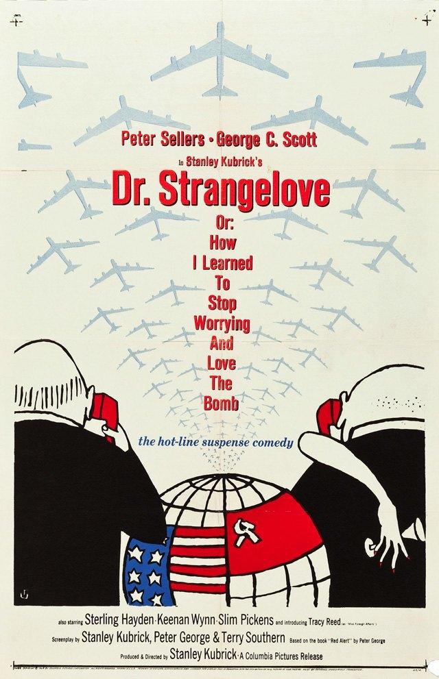 Постер к фильму «Доктор Стрейнджлав, или Как я научился не волноваться и полюбил атомную бомбу ». Изображение № 8.