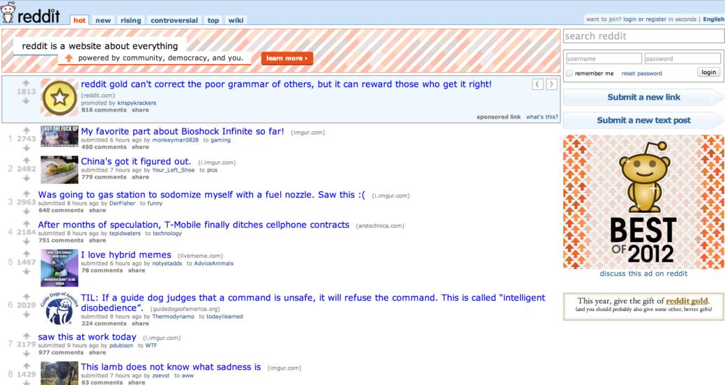 Гид по сайту reddit. Изображение № 2.
