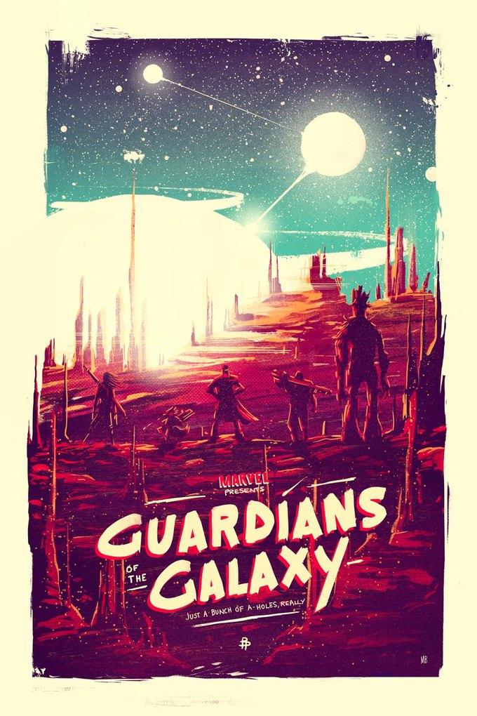 Опубликованы 44 фанатских постера к «Стражам Галактики». Изображение № 33.