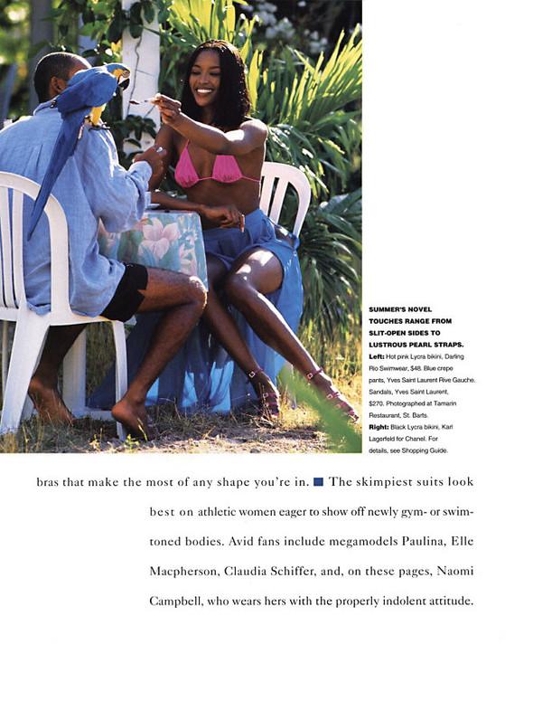 Архивная съемка: Наоми Кэмпбелл для американского Elle, 1994. Изображение № 4.